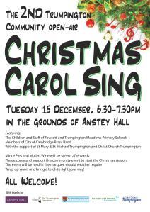 Community carol sing poster 2015